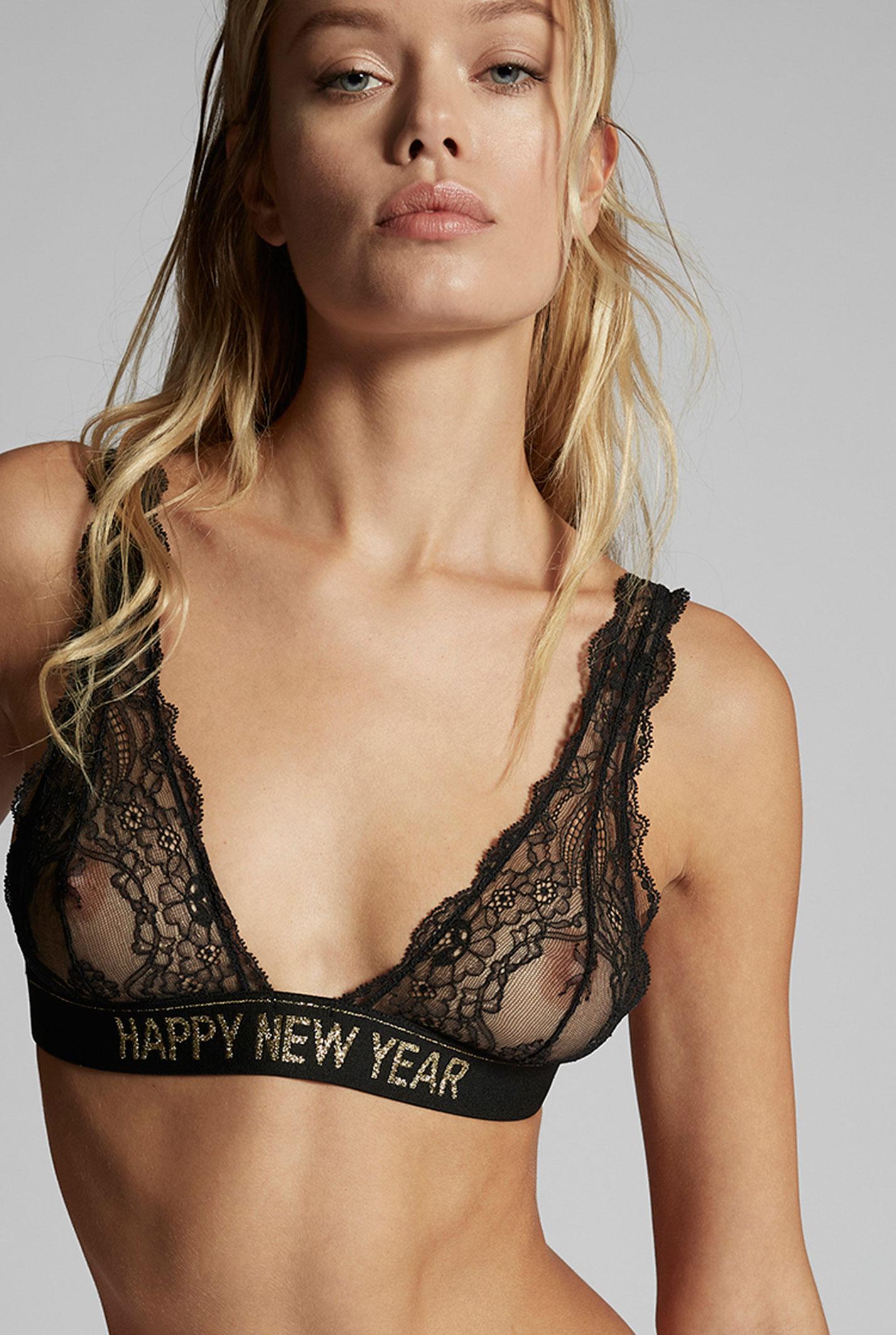 Фрида Аасен в новогодней коллекции нижнего белья Dsquared2, зима 2020 / фото 0