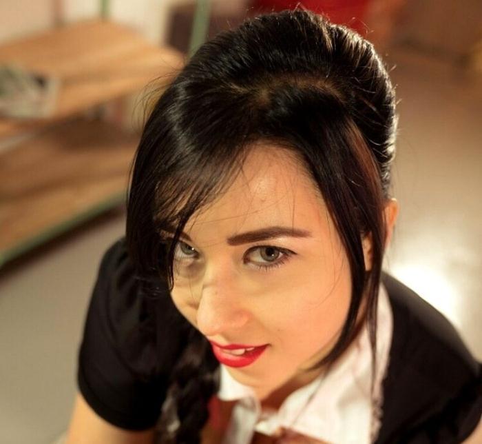 Taissia Shanti - Stunning Russian maid Taissia Shanti sucks and fucks hard Spanish cock (HD 720p) - XXXShades/PornDoePremium - [2020]